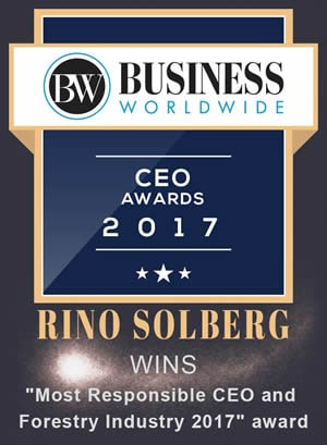 Rino Solberg namnges som vinnare av Business Worldwide Magazines CEO Awards 2017